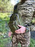Тактична сумка через плече EDC Olive, фото 3