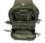 Тактична сумка через плече EDC Olive, фото 7