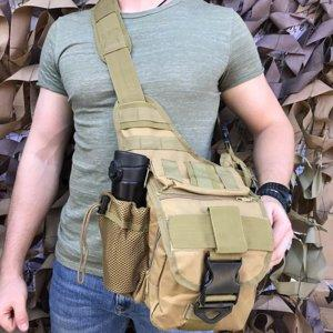 Сумка через плече/ військова сумка EDC Coyote