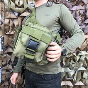 Сумка через плечо/ военная сумка EDC Olive