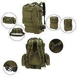 Рюкзак Molle System 55 L. Olive, фото 3