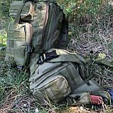 Рюкзак тактичний Molle System 45 L. Olive, фото 4