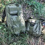 Рюкзак тактичний Molle System 45 L. Olive, фото 5