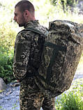 БАУЛ/СУМКА ТРАНСФОРМЕР ARMY UA Пиксель ЗСУ 60л., фото 4