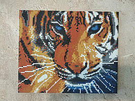 Готовая картина алмазная мозаика Глаза тигра  30*24 см на подрамнике