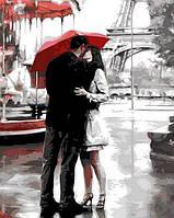 Картина рисование по номерам Mariposa Q674 Поцелуй в Париже 40х50см набор для росписи по цифрам, краски,