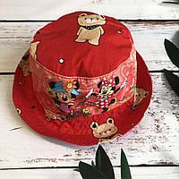 Детская стильная панама MIKKI (красная) 52р