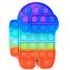 Развивающая сенсорная игрушка антистресс Pop it (Поп ит) (радужный амонг ас мини)