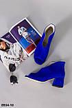 Ботильйони жіночі замшеві сині літні, фото 8