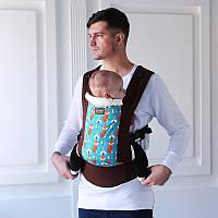 Рюкзак-переноска, слинг. Эрго рюкзак Love & Carry DLIGHT Лисички. Хлопок 100%