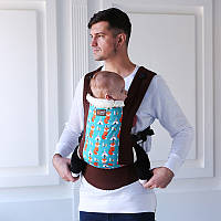 Рюкзак-переноска, слинг. Эрго рюкзак Love & Carry DLIGHT Лисички. Хлопок 100%, фото 1