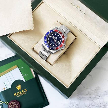 Rolex GMT-Master II Silver-Blue-Red
