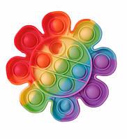 Развивающая сенсорная игрушка антистресс Pop it (Поп ит) (радужный цветок)