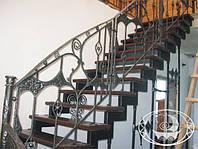 Кованные ограждение лестницы