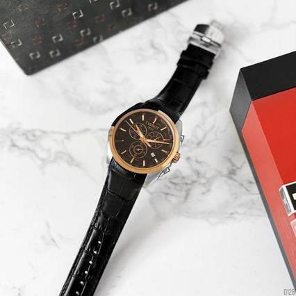 Tissot T-Classic Couturier Chronograph Black-Gold-Black