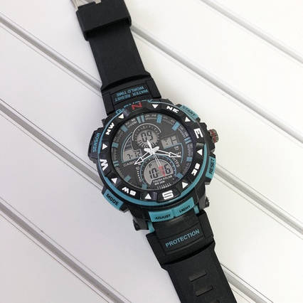 Casio G-Shock Twin Sensor Black-Turquoise