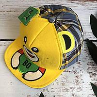 Детская стильная кепка BT. cap в клетку (желтый)