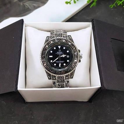 Rolex Submariner Pattern Silver-Black