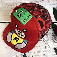 Детская стильная кепка BT. cap в клетку (красный)