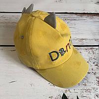 Детская стильная кепка DINO (желтый)