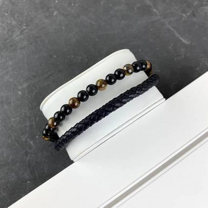 2B Rich Bracelet 6 mm, 19 cm Black-Gold
