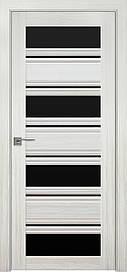 Двері Новий Стиль Венеція С2 скло Чорне, Перли білий, 800
