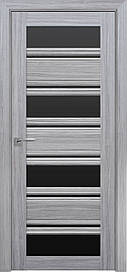 Двері Новий Стиль Венеція С2 скло Чорне, Перли срібний, 800