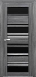 Двері Новий Стиль Венеція С2 скло Чорне, Перли графіт, 900