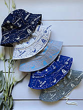 Лёгкие летние трикотажные детские панамы панамки кепки для мальчиков с завязками.