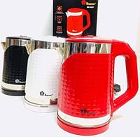 Електричний Чайник Дисковий 2,2 л. Domotec MS-5027, фото 1