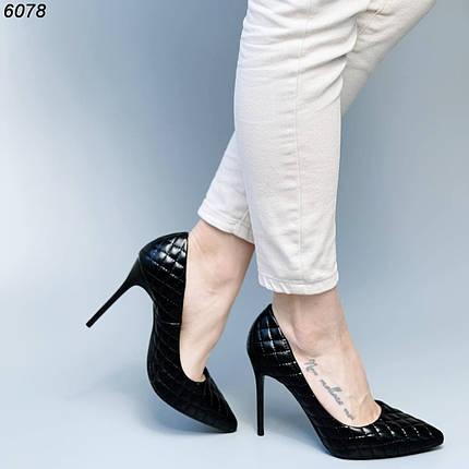 Черные туфли лодочки на шпильке, фото 2