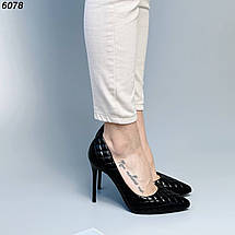 Черные туфли лодочки на шпильке, фото 3