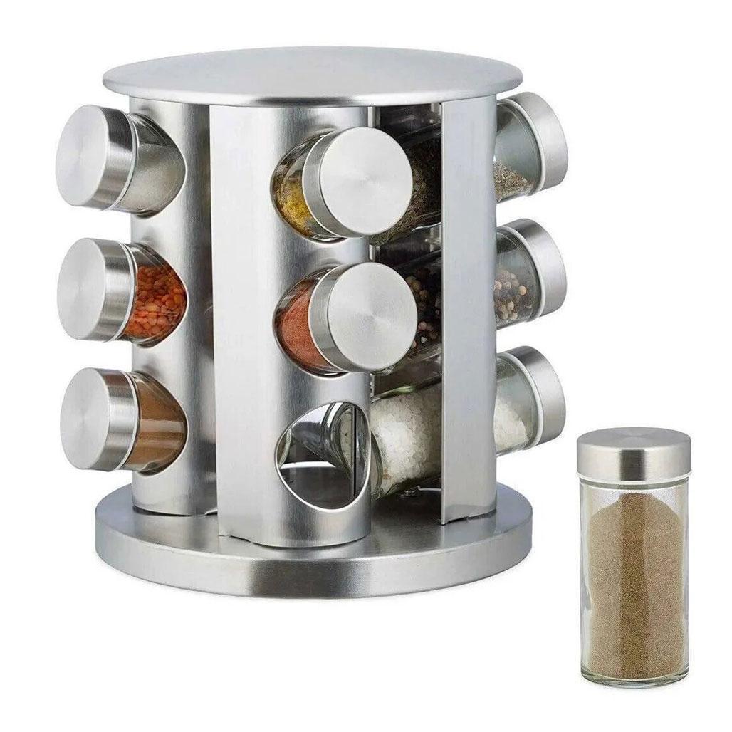 Набір для спецій Spice Carousel, 12 ємностей (баночок) / Підставка для спецій