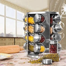 Набір для спецій 16 ємностей (баночок) Spice Carousel / Підставка для спецій, фото 2