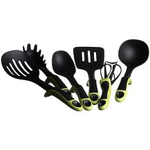 Набір силіконових кухонного приладдя Kitche Tools 7 предметів | Набір для кухні Зелений, фото 3