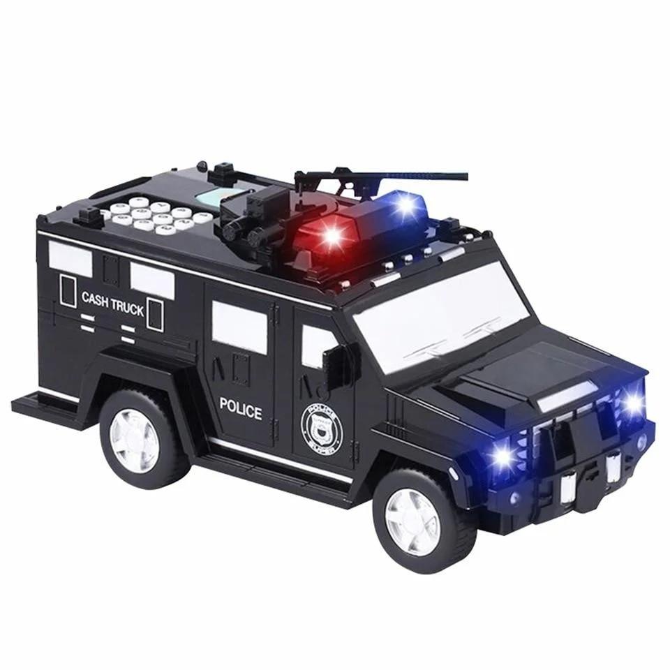 Машинка скарбничка з кодовим замком і відбитком Cash Truck Чорна