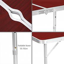 Стол для пикника раскладной со стульями Folding Table Коричневый, 120 х 70 см, фото 3