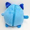 Детский плед с капюшоном и рукавами / толстовка Huggle Pets Hoodie Синий, фото 5