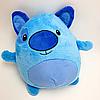 Детский плед с капюшоном и рукавами / толстовка Huggle Pets Hoodie Синий, фото 6