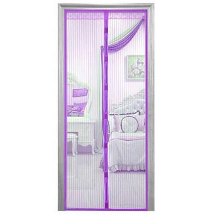 Москитная сетка 100х210 см на магнитах Magic Mesh Фиолетовый, фото 2