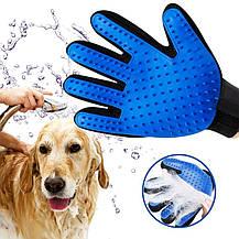 Перчатка для вычесывания шерсти True Touch / Щетка для домашних питомцев, фото 2