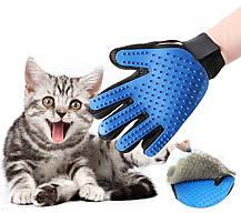 Перчатка для вычесывания шерсти True Touch / Щетка для домашних питомцев, фото 3