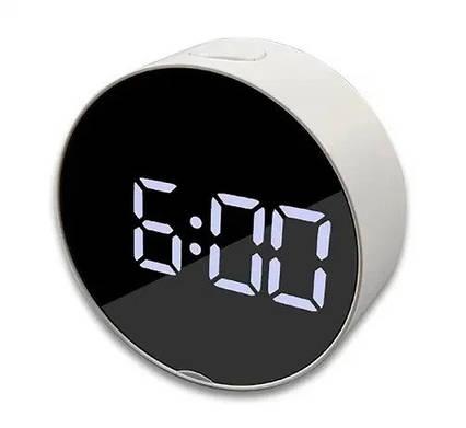 Настольные электронные LED часы зеркальные DT-6505, фото 2