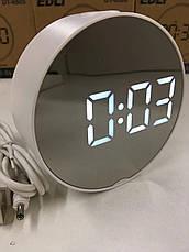 Настільні електронні LED годинник дзеркальні DT-6505, фото 3