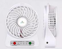 Портативный мини вентилятор Mini Fan с аккумулятором / ручной / настольный / белый, фото 2