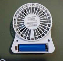 Портативный мини вентилятор Mini Fan с аккумулятором / ручной / настольный / белый, фото 3