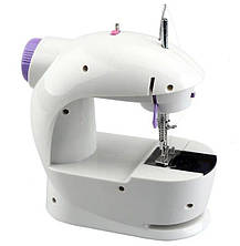Швейна машинка міні портативна Mini Sewing Machine FHSM-201 з адаптером і педаллю, фото 2