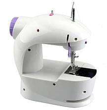 Швейная мини машинка портативная Mini Sewing Machine FHSM-201 с адаптером и педалью, фото 2
