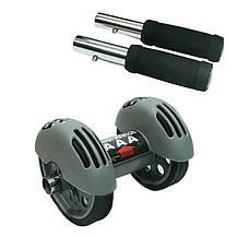 Тренажер колесо подвійної дії Power Stretch Roller для преса, рук, спини / Подвійний ролик з поверненням, фото 2