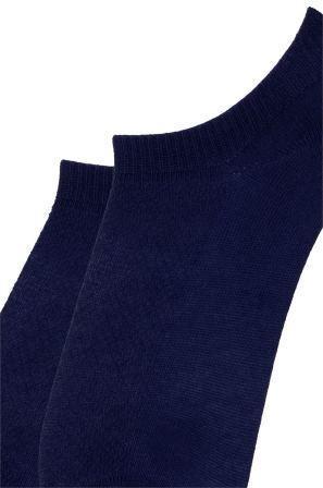 Носки детские укороченные хлопковые Bross сеточкой т-синие